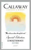 卡拉威特选琼瑶浆干白葡萄酒(Callaway Special Selection Gewurztraminer,California,USA)