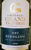 穿越酒庄雷司令干白葡萄酒(Chateau Grand Traverse Dry Riesling,Old Mission Peninsula,...)