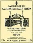美讯酒庄副牌(小美讯)干红葡萄酒(La Chapelle de La Mission Haut-Brion, Pessac-Leognan, France)
