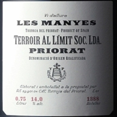 极限风土莱曼红葡萄酒(Terroir Al Limit Soc. Lda. Les Manyes, Priorat, Spain)