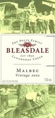 宝仕德第二回合马尔贝克红葡萄酒(Bleasdale Second Innings Malbec,Langhorne Creek,Australia)