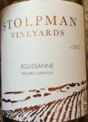 斯多分酒庄系列瑚珊干白葡萄酒(Stolpman Vineyards Estate Roussanne,Ballard Canyon,USA)
