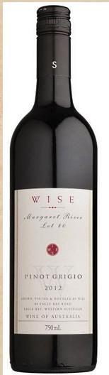 智者洛特80灰皮诺干白葡萄酒(Wise Wines Lot 80 Pinot Grigio,Margaret River,Australia)