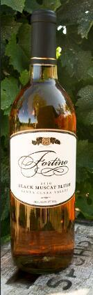 佛蒂诺酒庄麝香桃红葡萄酒(Fortino Black Muscat Blush,Santa Clara Valley,USA)