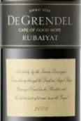 德格林得鲁拜集赤霞珠-梅洛干红葡萄酒(De Grendel Rubaiyat Cabnet Sauvignon-Merlot, Durbanville, South Africa)