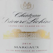 荔仙酒庄红葡萄酒(Chateau Prieure-Lichine,Margaux,France)