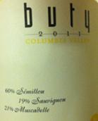 布迪赛美蓉长相思密斯卡岱白葡萄酒(Buty Winery Semillon Sauvignon Muscadelle,Columbia Valley,...)