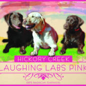 山核桃溪酒庄欢乐拉布拉多桃红葡萄酒(Hickory Creek Laughing Labs Pink,Lake Michigan Shore,USA)