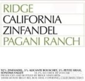 山脊帕格尼园仙粉黛干红葡萄酒(Ridge Pagani Ranch Zinfandel, Sonoma Valley, USA)
