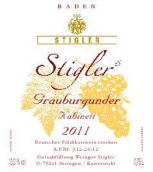 施蒂格勒灰皮诺干型小房酒(Weingut Stigler Grauburgunder Kabinett trocken, Baden, Germany)