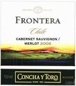 干露远山赤霞珠-梅洛干红葡萄酒(Concha y Toro Frontera Cabernet Sauvignon - Merlot, Central Valley, Chile)