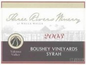 三河博思园西拉干红葡萄酒(Three Rivers Winery Boushey Vineyards Syrah,Yakima Valley,...)