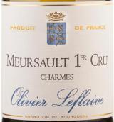 乐弗莱夫沙尔姆默索尔一级园干白葡萄酒(Olivier Leflaive Charmes,Meursault Premier Cru,France)