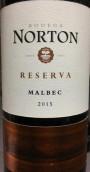 诺顿酒庄珍藏马尔贝克干红葡萄酒(Bodega Norton Reserva Malbec, Lujan de Cuyo, Argentina)