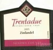特伦仙粉黛干红葡萄酒(亚历山大谷)(Trentadue Zinfandel,Alexander Valley,USA)
