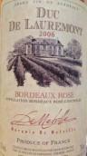 梅维尔侯爵劳雷蒙特公爵桃红葡萄酒(Marquis de Melville Duc de Lauremont Rose, Bordeaux, France)