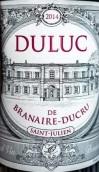 班尼杜克酒庄副牌干红葡萄酒(Duluc de Branaire-Ducru, Saint-Julien, France)