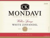C K Mondavi Family Vineyards Willow Springs White Zinfandel,...