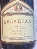 田园酒庄加里园西拉干红葡萄酒(Arcadian Winery Garys' Vineyard Syrah,Lompoc,USA)