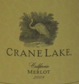 仙鹤湖梅洛干红葡萄酒(Crane Lake Merlot, California, USA)