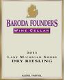 巴洛达湖密歇根海滨干雷司令干白葡萄酒(Baroda Lake Michigan Shore Dry Riesling,Michigan,USA)