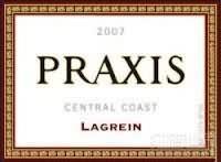 Praxis Cellars 'Praxis' Lagrein,Central Coast,USA