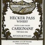 赫克帕斯佳丽酿干红葡萄酒(Hecker Pass Carignane,Santa Clara Valley,USA)