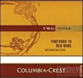 哥伦比亚山峰十号园混酿干红葡萄酒(Columbia Crest Two Vines Vineyard 10 Red,Washington,USA)