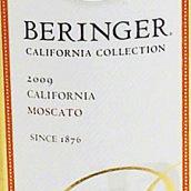 贝灵哲加州收藏系列麝香干白葡萄酒(Beringer California Collection Moscato,California,USA)