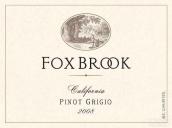 福克斯布鲁克灰皮诺干白葡萄酒(Fox Brook Winery Pinot Grigio,California,USA)