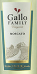 嘉露家族园莫斯卡托甜白葡萄酒(Gallo Family Vineyards Moscato,California,USA)