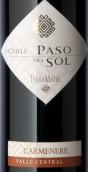 特雷玛特净土系列佳美娜干红葡萄酒(TerraMater Paso del Sol Carmenere,Central Valley,Chile)