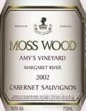 慕丝森林艾美园赤霞珠干红葡萄酒(Moss Wood Amy's Vineyard Cabernet Sauvignon, Margaret River, Australia)