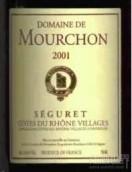 Domaine de Mourchon Cotes du Rhone Villages Seguret Cuvee ...