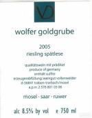 丹尼尔沃伦威德酒庄沃尔费黄金园晚收雷司令甜白葡萄酒(Weingut Daniel Vollenweider Wolfer Goldgrube Riesling ...)
