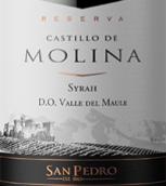 圣派德罗茉莉娜堡珍藏西拉干红葡萄酒(Vina San Pedro Castillo de Molina Reserva Syrah, Maule Valley, Chile)