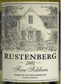 勒斯滕堡五名士兵霞多丽干白葡萄酒(Rustenberg Five Soldiers Chardonnay,Stellenbosch,South ...)