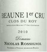 罗希诺酒庄鲁瓦园(伯恩一级园)干红葡萄酒(Domaine Nicolas Rossignol Clos du Roy, Beaune 1er Cru, France)