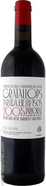 瑞尼芭碧莎拉·佩雷斯干红葡萄酒(Rene Barbier Sara Perez Gratallops Partida Bellvisos,Priorat...)