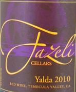 法泽利雅尔达干红葡萄酒(Fazeli Cellars Yalda,Temecula Valley,USA)