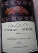 沃白瑞吉酒庄赤霞珠干红葡萄酒(Wombat Ridge Estate Cabernet Sauvignon,New South Wales,...)
