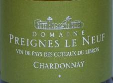 新普雷涅酒庄霞多丽干白葡萄酒(Domaine Preignes Le Neuf Chardonnay,Coteaux du Libron,France)