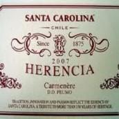圣卡罗世纪传承干红葡萄酒(Santa Carolina Herencia, Peumo, Chile)
