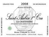 马克·柯林父子酒庄沙特尼尔(圣欧班一级园)干白葡萄酒(Domaine Marc Colin et Fils La Chateniere, Saint-Aubin Premier Cru, France)