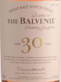 百富30年苏格兰单一麦芽威士忌(The Balvenie Aged 30 Years Single Malt Scotch Whisky, Speside, UK)