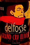 德尔夫斯优质奥利维尔干白葡萄酒(DelFosse Grand Cru Olivier, Virginia, USA)