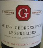 佳维尼酒庄普露利(夜圣乔治一级园)红葡萄酒(Domaine Philippe Gavignet Les Pruliers, Nuits-St-George 1er Cru, France)