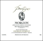 杜宝夫精品墨贡干红葡萄酒(Georges Duboeuf Prestige Morgon,Beaujolais,France)