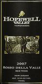 霍普韦尔谷酒庄红谷干红葡萄酒(Hopewell Valley Vineyards Rosso Della Valle,New Jersey,USA)
