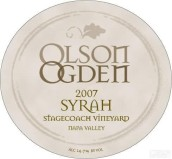 Olson Ogden Wines Stagecoach Vineyard Syrah,Napa Valley,USA